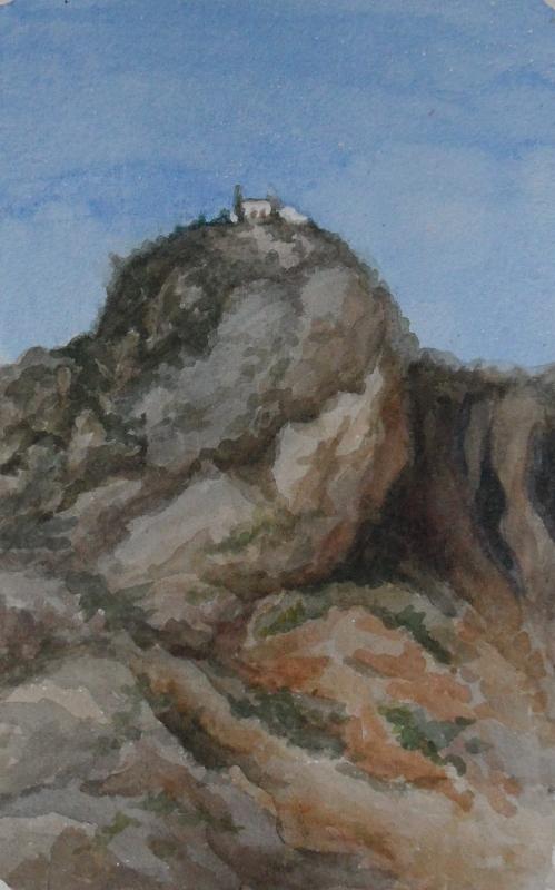 Родос.Монастырь в горах.